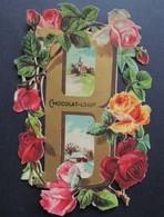 Découpi Ancien. Chocolat  LOUIT.  ALPHABET.  Lettre  B    Roses   11,5 X 8 Cm - Découpis