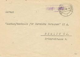 30690. Carta Franquicia TRAUNSTEIN (Oberbayern) 1946  Zona Ocupation Alemania  PAGADO. Gebühr Bezahlt - Bizone
