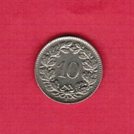 SWITZERLAND   10 RAPPEN 1962  (KM # 27) #5186 - Switzerland