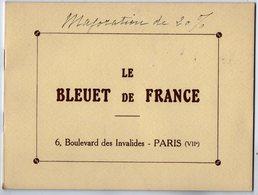 VP13.514 - MILITARIA - PARIS 1935 - Document Commercial De L'Association Le ¨ LE BLEUET DE FRANCE ¨ - Documentos
