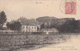 Cp , 90 , BELFORT , Caserne Vauban, Château Et Nouveau Quai - Belfort - City