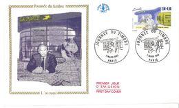 FDC Journée Du Timbre Accueil Bureau De Poste (75 Paris 07/03/1992) - FDC