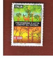 ITALIA REPUBBLICA  -   2009  PREVENZIONE INCENDI       -   USATO  ° - 6. 1946-.. Repubblica