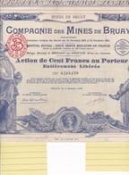 Th3MINES : BRUAY - Action De 100 Frs1939 (10) - Actions & Titres