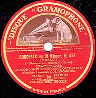 78 Trs  30 Cm état TB  CONCERTO En Ut Mineur, K 491 (MOZART) 1er Mouvement  Allegro 1re Et 2e Parties LONDON ORCHESTRA - 78 T - Disques Pour Gramophone