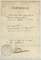 Certificat Sur Papier Vergé Signé Lafaire Maire De Beaugency . Prix D'orthographe à Edouard Villié D'Avaray . - Diplômes & Bulletins Scolaires