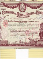 Th3MINES : MARLES - Certificat1937  (12) - Actions & Titres