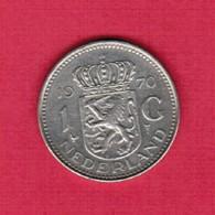 NETHERLANDS   1 GULDEN 1970  (KM # 184a) #5187 - 1948-1980 : Juliana