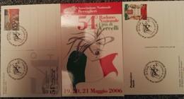 LOTTO DI 5 CARTOLINE COMMEMORATIVE PER IL 54° RADUNO NAZIONALE DEI BERSAGLIERI TENUTOSI A VERCELLI IL 20-05-2006 - Vercelli