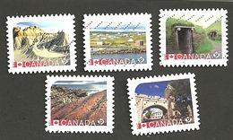 Sc. #2964-68 Unesco World Heritage Sites  2017 Booklet Set Used K021 - 1952-.... Règne D'Elizabeth II