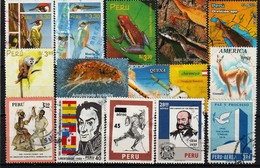 PERU - LOTJE RESTANTEN Ref.L3-  Gestempeld/oblit./gebraucht/used ° - Pérou