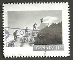 Sc. #2909 Canadian Photography, Climbing Mount Habel  2016 Booklet U.S. Rate Single K032 - 1952-.... Règne D'Elizabeth II