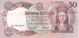 BILLETE DE PORTUGAL DE 50 ESCUDOS DEL AÑO 1964 SERIE EV   (BANK NOTE) - Portugal