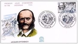 FRANCIA - 14 2 1981 FDC JACQUES OFFENBACH ( MUSICISTA) - Musica