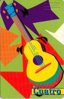 TARJETA TELEFONICA DE VENEZUELA. INSTRUMENTOS GAITEROS 4/5. CUATRO 10.98. CAN2-0400A. (833) - Música