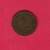NETHERLANDS   1 CENT 1878  (KM # 107.1) #5191 - 1849-1890 : Willem III