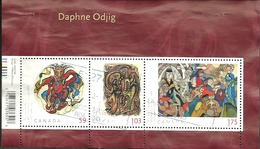 Sc. #2437 Art Canada, Daphne Odjig Souvenier Sheet 2011 D006 - 1952-.... Règne D'Elizabeth II