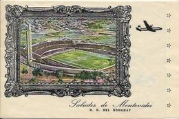 URUGUAY, Montevideo, Le Stade De Football, Carte Lettre - Uruguay