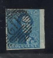 20c Epaulette Bord De Feuille Et 4 Marges  Très Frais - 1849 Epauletten