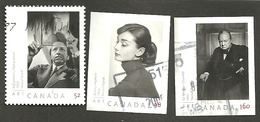 Sc. #2270, 72 & 73 Art Canada, Yousef Karsh Photograpy Three Rates 2008 K054 - 1952-.... Règne D'Elizabeth II