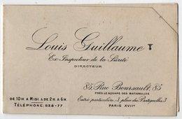 VP13.517 - MILITARIA - CDV - Carte De Visite - Louis GUILLAUME Ex Inspecteur De La Sureté à PARIS - Police & Gendarmerie