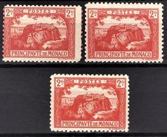MONACO 1922 / 23  - Y.T. N° 61 X 3  - NEUFS * - Neufs