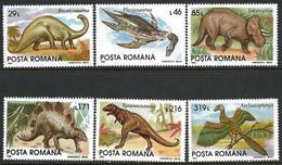 Romania 1993 Scott 3845-50 MNH Dinosaurs - 1948-.... Republics