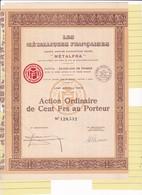 Th3METALFRA : Action De 100 Frs 1930 (14) - Actions & Titres