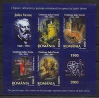 ROUMANIE Feuillet  ( 2005 ) * *  Jules Verne - Autres