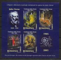 ROUMANIE Feuillet  ( 2005 ) * *  Jules Verne - Andere