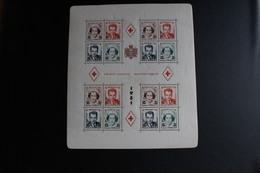 MONACO BLOC 4A Croix Rouge Monégasque 1951 Avec Charnières - Blocs