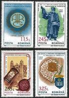 Romania 1993 Scott 3870-73 MNH Anniversaries And Events - 1948-.... Repubbliche