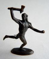 Rare FIGURINE KINDER  METAL INDIEN 1 70's - U-EI Indianer (1) - Figurines En Métal