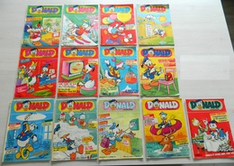 13 Hebdomadaires - Donald Magazine - N° 39,51,7,48,44,49,21,1,50,4,2,10,41 - 1986/1987 - Donald Duck