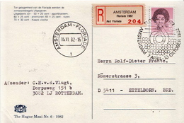 Postal History Cover: Netherlands R Card From Floriade 1982 - Plants