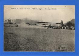 25 DOUBS - BESANCON Le Départ Du Lieutenant Aviateur Rémy, Polygone De Besançon Mai 1911 - Besancon