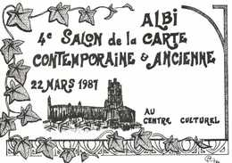 Michel Carriere ALBI  4 E Salon De La Carte Contemporaine & Ancienne 22 Mars 1987 RV - Bourses & Salons De Collections