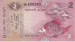 BILLETE DE SRY LANKA DE 2 RUPEES DEL AÑO 1979 EN CALIDAD EBC (XF)(BANKNOTE) - Sri Lanka