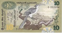 BILLETE DE SRY LANKA DE 10 RUPEES DEL AÑO 1979 EN CALIDAD EBC (XF)(BANKNOTE) - Sri Lanka