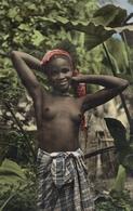 AFRICA - GIOVANE BELLEZZA - JEUNE FILLE AUX SEINS NUS - Cartoline