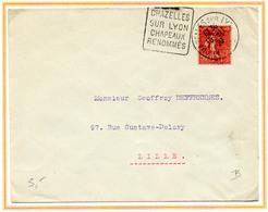 France Semeuse Lignée N° 264 BIT Y. Et T. Cachet Daguin Chazelles Sur Lyon Loire Du 18/11/1930 - Postmark Collection (Covers)