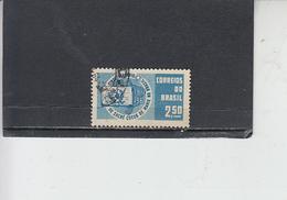 BRASILE 1961 - Yvert  701° - Sacro Cuore - Brasile