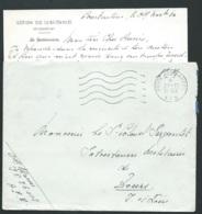 Sur Lac , Contenu à Ententete Gestion Des Subsistances Constantine  , + Obli  Poste Aux Armées A.F.N. EN 1952 RAA0602 - Postmark Collection (Covers)