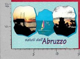 CARTOLINA VG ITALIA - Saluti Dall'ABRUZZO - Vedutine Multivue - 10 X 15 - ANN. 2000 PICCOLI GRUPPI SACRI CALTANISSETTA - Saluti Da.../ Gruss Aus...