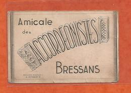 Carte De Visite Cdv Amicale Des Accordeonistes Bressans 1950 Bourg En Bresse 01 Ain - Cartes De Visite