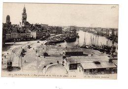 Dunkerque Vue Générale De La Ville Et Des Quais ( Bassin Du Commerce , Hôtel De Ville, Beffroi, Place Du Minck , Tramway - Dunkerque