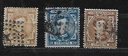 ESPAGNE 163/164/166 Oblitéres Rond - 1875-1882 Kingdom: Alphonse XII