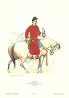 """1883"""" -SERIE ARMI E CAVALIERI-CINA-FALCONIERE DI CORTE-1700-STAMPA PROPAGANDA LOFARMA  """"  STAMPA ORIGINALE - Pubblicitari"""