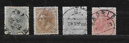 ESPAGNE 184/186/187/190 Oblitéres Rond - 1875-1882 Kingdom: Alphonse XII