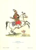 """1884"""" -SERIE ARMI E CAVALIERI-INDIA-CAPO D'ESERCITO DI SCIAH GEHAN-1650- STAMPA PROPAGANDA LOFARMA """"  STAMPA ORIGINALE - Pubblicitari"""